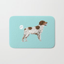Brittany Spaniel dog breed funny dog fart Bath Mat