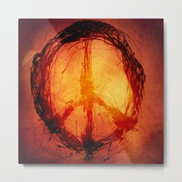 Burned Peace Metal Print