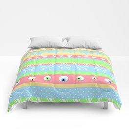 Creepy Cute Stripes Comforters
