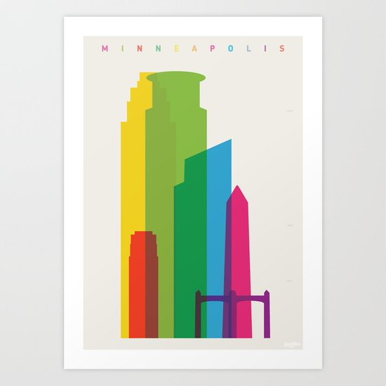Shapes of Minneapolis Art Print