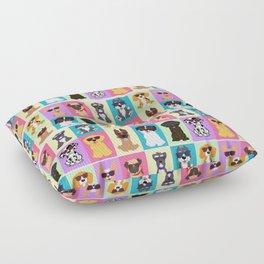 Doggi Breeds summer by Diseños que ladran Floor Pillow