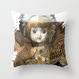 Baby Buggy Throw Pillow