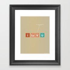 We've Got Chemistry Framed Art Print