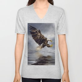 Bald Eagle swooping Unisex V-Neck