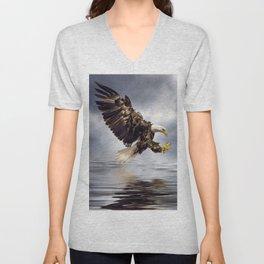 Bald Eagle swooping Unisex V-Neck