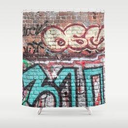 Wall With Street Grafitti Shower Curtain