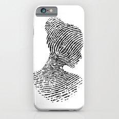 Fingerprint Silhouette Portrait No.1 Slim Case iPhone 6s