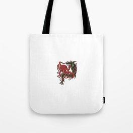tattoo design - octopus fighting shark Tote Bag