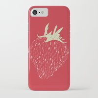 strawberry iPhone & iPod Cases featuring Strawberry by Julia Kisselmann