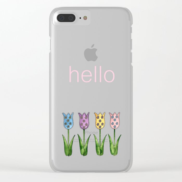 Tulip Row Clear iPhone Case