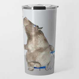 cofffee time hippo Travel Mug