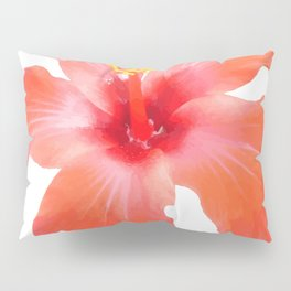 Red Hibiscus Vector Isolated Pillow Sham