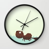 beaver Wall Clocks featuring Beaver by ValD