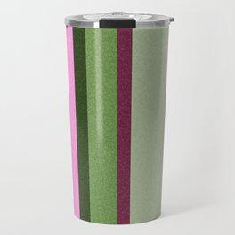 Pink Roses in Anzures 1 Stripes 3V Travel Mug