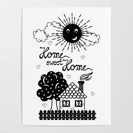 Home sweet Home Illustration Poster