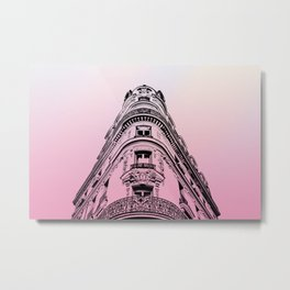 Haussmannian Building in Paris VI Metal Print