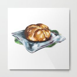 Vintage Country Bread Painting 古風麵包油画 Metal Print