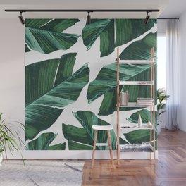 Tropical Banana Leaves Vibes #4 #foliage #decor #art #society6 Wall Mural