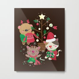 Holiday Crew Metal Print