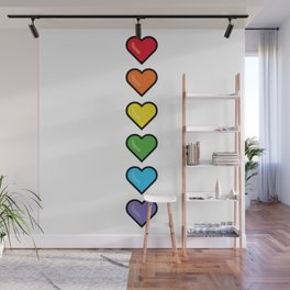 Heart flag Wall Mural