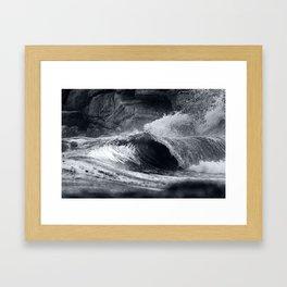 Storm Bay Barrels Framed Art Print