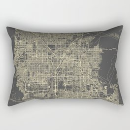 Las Vegas Map #1 Rectangular Pillow
