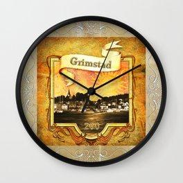 Jubileums pute Grimstad 200 år Wall Clock