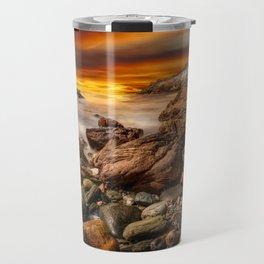 Rhoscolyn Coastline Sunset Travel Mug