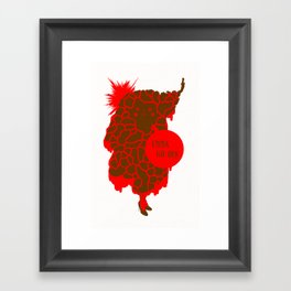 Volcano Girl Framed Art Print