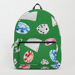 #casino #games #accessories #pattern 4 Backpack