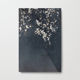 Blossoms on Blue Metal Print