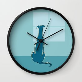 Waiting Greyhound Wall Clock