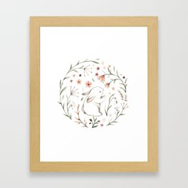 Watercolor Bunny Framed Art Print