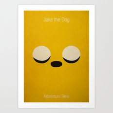 Minimalist Adventure Time Jake Art Print