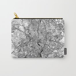 Madrid White Map Carry-All Pouch