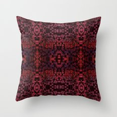 Electric Red Cubes  Throw Pillow