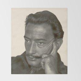Salvador Dali old photo Throw Blanket