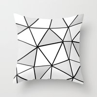 origami Throw Pillows featuring origami by themicromentalist