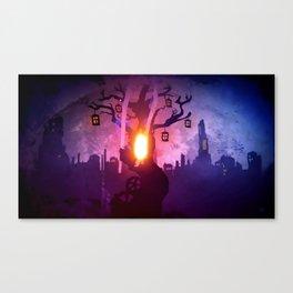God Gamble Door Tree Canvas Print