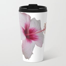 Pale Pink Hibiscus Tropical Flower No Text Travel Mug