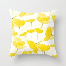 Light Yellow Poppies Spring Summer Mood #decor #society6 #buyart Throw Pillow