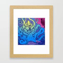 Hollowspine Rider meets the Lord of the Hunt Framed Art Print