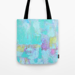 Turquoise, Blue Abstract Work Tote Bag