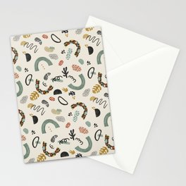 Shapes modern colorful Stationery Cards
