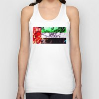 arab Tank Tops featuring circuit board united arab emirates (flag) by seb mcnulty