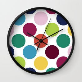 Colorful Dots Wall Clock