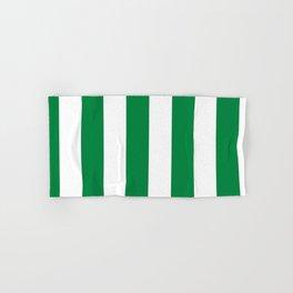 Classic Cabana Stripes in White + Kelly Green Hand & Bath Towel