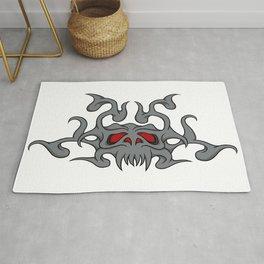 Demon skull Rug