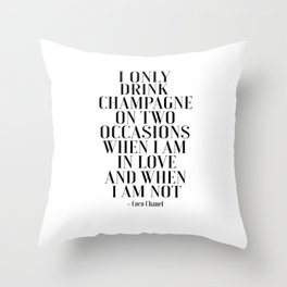 Fashion Print,Champagne Quote,celebrate life,Bar DecorDrink Sign,Love Art,Girls Room Decor,Home Bar Throw Pillow