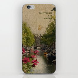 Amsterdam mon amour iPhone Skin